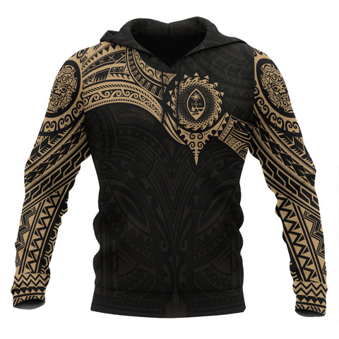 Image of Guam Polynesian Hoodie - Gold Heart Shield