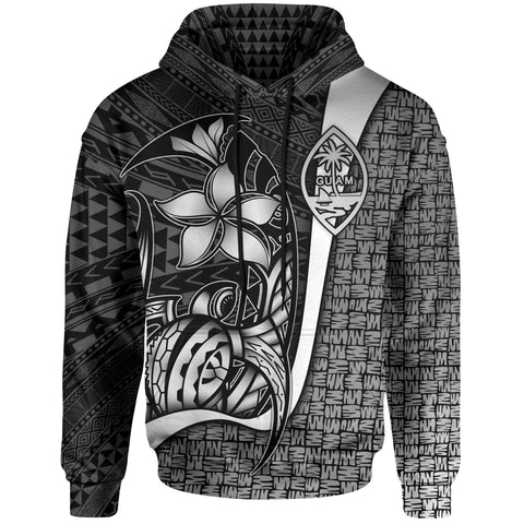 Guam Polynesian Hoodie White - Turtle with Hook