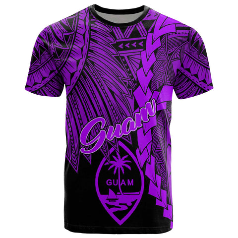 Image of Guam Polynesian T-Shirt - Tribal Wave Tattoo Purple