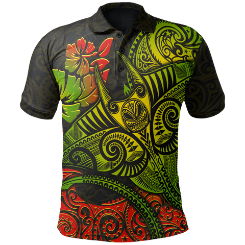 Image of Hawaii Polo Shirt  - Polynesian Manta Ray