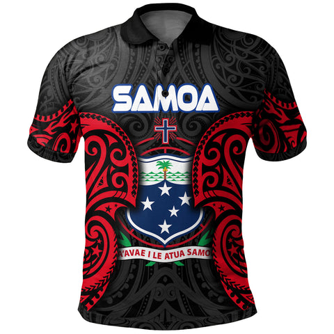Image of Samoa Polynesian Custom Personalised Polo Shirt - Samoan Spirit - BN12
