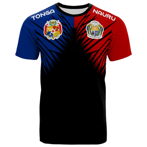 Image of Tongaruan All Over T-Shirt - Tongaruan Coat Of Arms Break Style - BN09