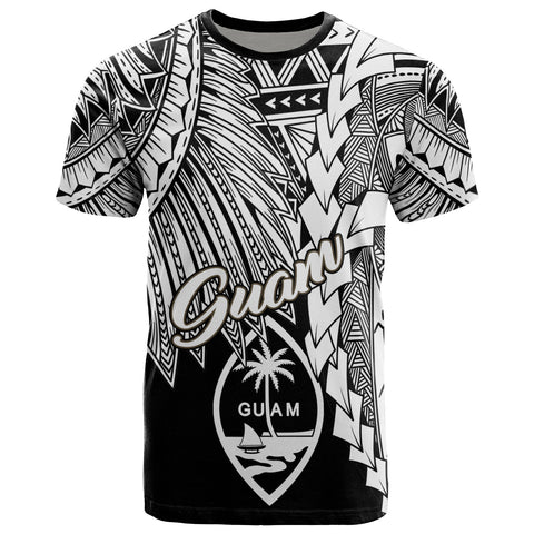 Guam Polynesian T-Shirt - Tribal Wave Tattoo White