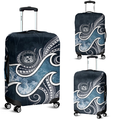 Polynesian Hawaii Luggage Covers - Ocean Style (Coat of Arms)