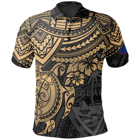 Image of Guam Polynesian Polo Shirt - Golden Turtle