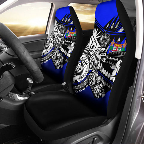 Image of Fiji Car Seat Cover - The Flow OF Ocean Blue Color - BN20