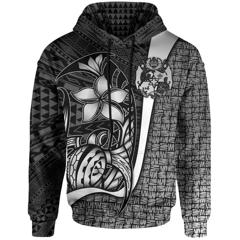 Tonga Polynesian Hoodie White - Turtle with Hook