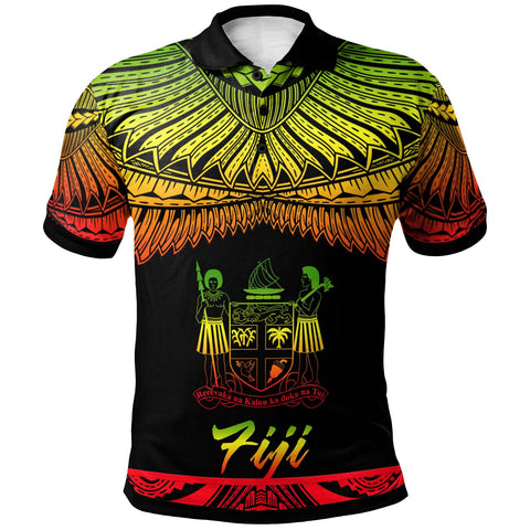 Image of Fiji Polynesian Polo Shirt - Poly Tattoo Reggae Version