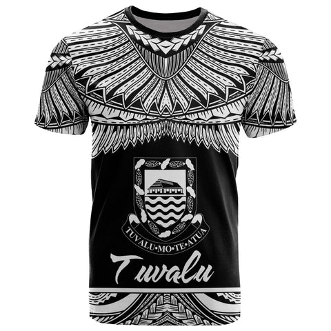 Image of Tuvalu Polynesian T-Shirt - Tuvalu Pride White Version