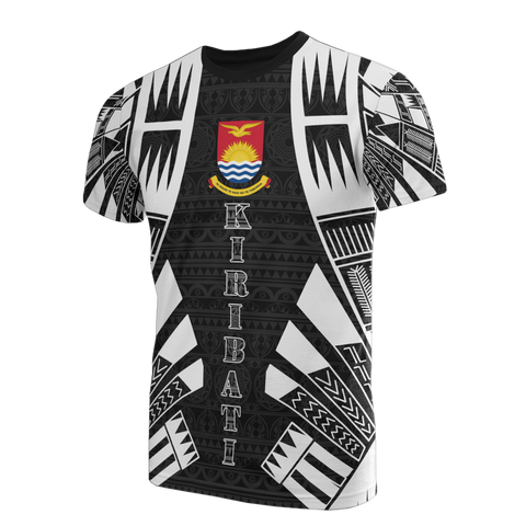 Kiribati T-Shirt - Kiribati Coat Of Arms Polynesian Tattoo Style - BN09