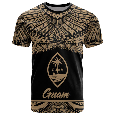 Image of Guam Polynesian T-Shirt - Guam Pride Gold Version
