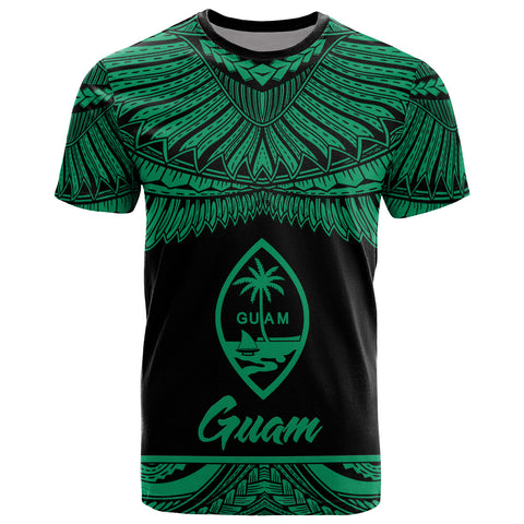Guam Polynesian T-Shirt - Guam Pride Green Version