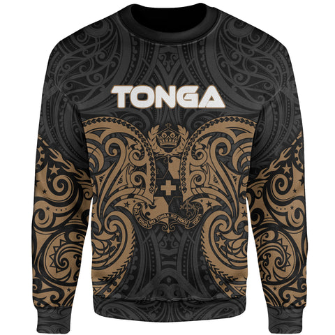 Image of Tonga Polynesian Sweater - Spirit Style Gold