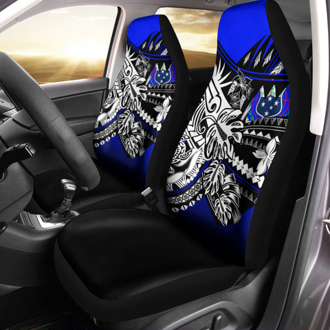Image of Samoa Car Seat Cover - The Flow OF Ocean Blue Color - BN20