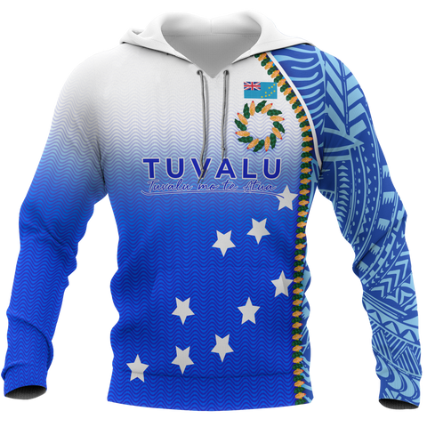 Tuvalu All Over Hoodie - Ocean Waves - BN09
