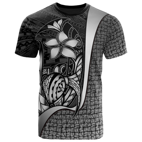 Image of Polynesian T-Shirt White - Turtle with Hook