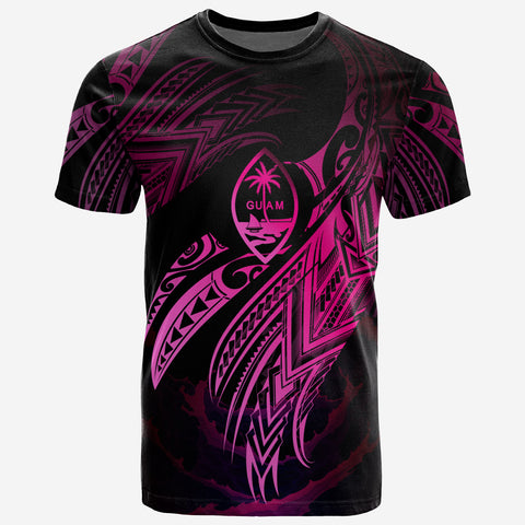 Image of Guam Polynesian T-Shirt - Tuvalu Legend Pink Version