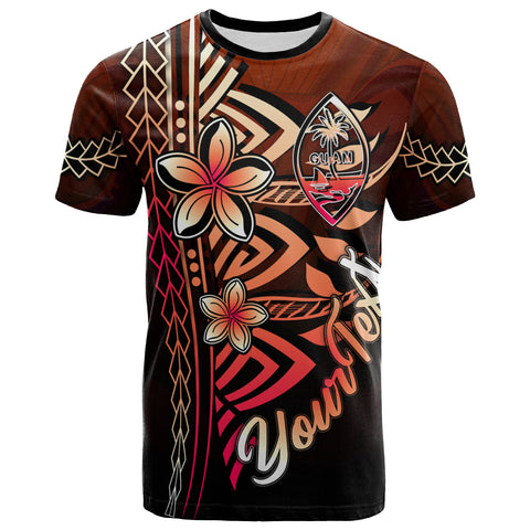 Guam Custom Personalised T-Shirt Red - Vintage Tribal Mountain
