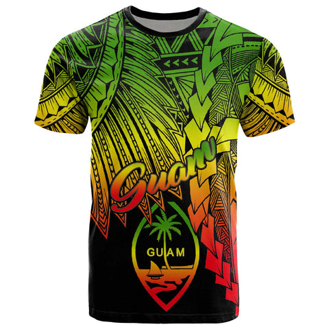 Guam Polynesian T-Shirt - Tribal Wave Tattoo Reggae