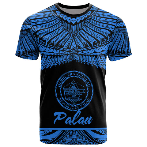 Palau Polynesian T-Shirt - Palau Pride Blue Version