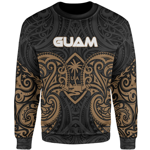 Image of Guam Polynesian Sweater - Spirit Style Gold