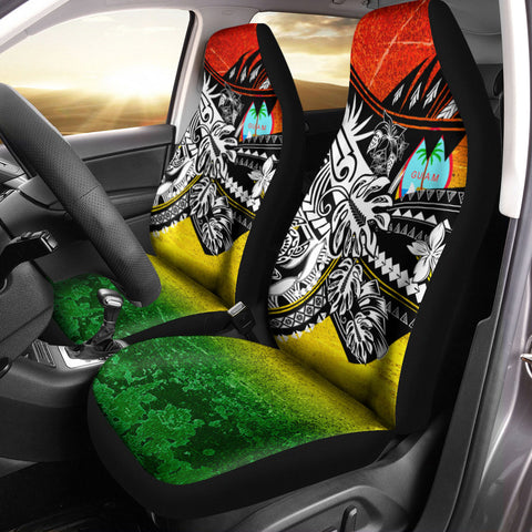 Guam Car Seat Cover - The Flow OF Ocean Reggae Color - BN20