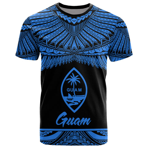 Image of Guam Polynesian T-Shirt - Guam Pride Blue Version