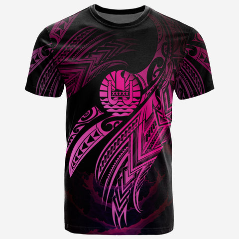 Image of Tahiti Polynesian T-Shirt - Tahiti Legend Pink Version