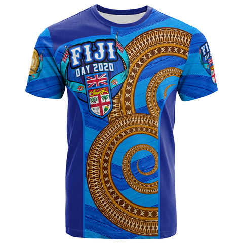 Fiji T-Shirt - Fiji Day Tailevu Provinces With Tapa Patterns