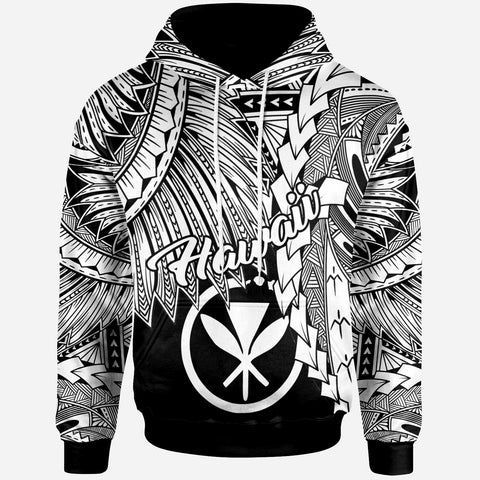 Polynesian Hawaii Hoodie - Tribal Wave Tattoo White