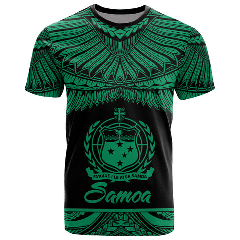 Image of Samoa Polynesian T-Shirt - Samoa Pride Green Version