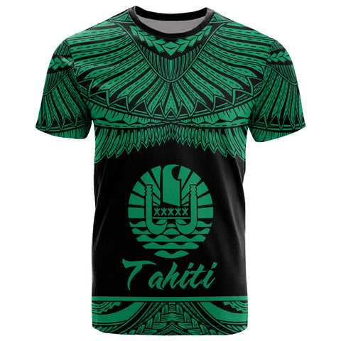 Tahiti Polynesian T-Shirt - Tahiti Pride Green Version