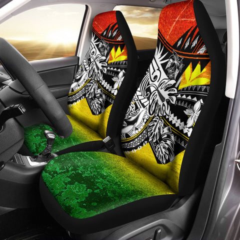 Hawaii Car Seat Cover - The Flow OF Ocean Reggae Color - BN20