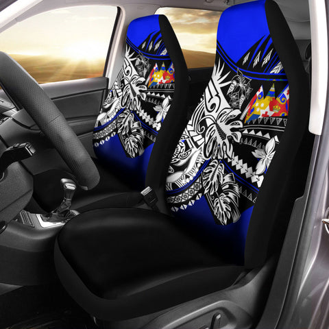 Tonga Car Seat Cover - The Flow OF Ocean Blue Color - BN20