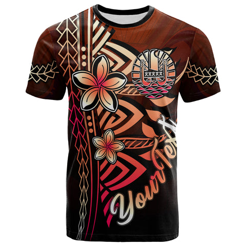 Tahiti Custom Personalised T-Shirt Red - Vintage Tribal Mountain