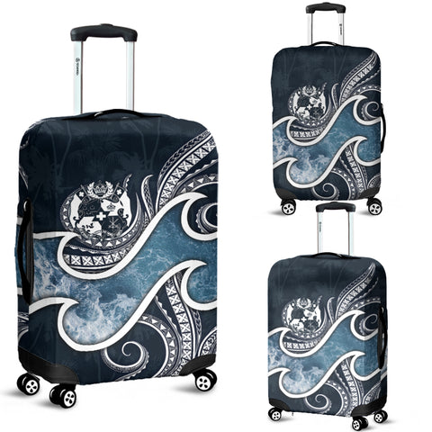 Image of Tonga Polynesian Luggage Covers - Ocean Style