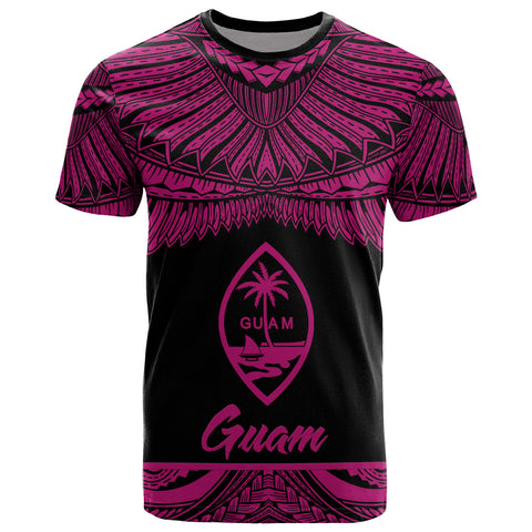 Image of Guam Polynesian T-Shirt - Guam Pride Pink Version