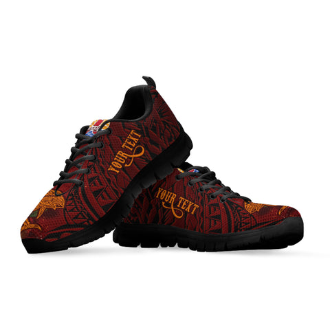 Tahiti Custom Personalised Sneakers - Tribal Tuna Fish - BN39