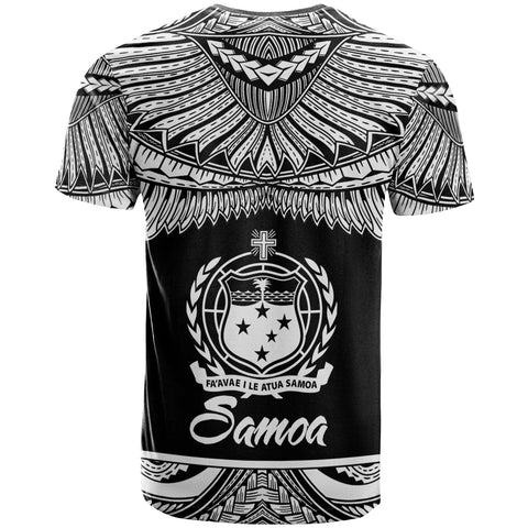 Image of Samoa Polynesian Custom Personalised T-Shirt - Samoa Pride White Version - BN12
