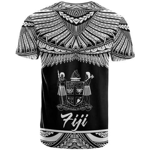Image of Fiji Polynesian Custom Personalised T-Shirt - Fiji Pride White Version - BN12