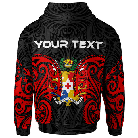 Tonga Polynesian Custom Personalised Zip Up Hoodie - Tongan Spirit - BN12