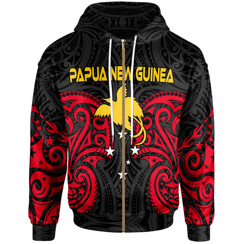 Papua New Guinea Zip-Up Hoodie - Papua New Guinea Spirit - BN12