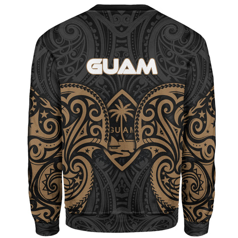 Guam Polynesian Custom Personalised Sweater - Spirit Style Gold - BN12