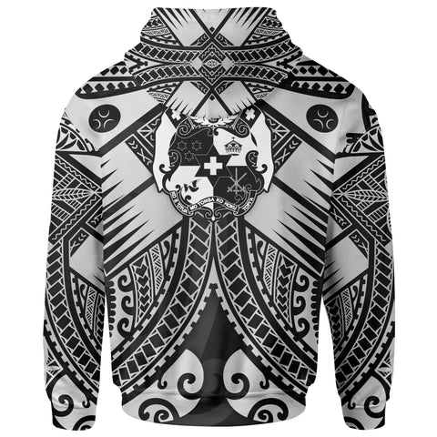 Image of Tonga Polynesian Hoodie - Tonga White Seal with Polynesian tattoo - BN18
