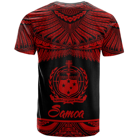 Samoa Polynesian Custom Personalised T-Shirt - Samoan Pride Red Version - BN12