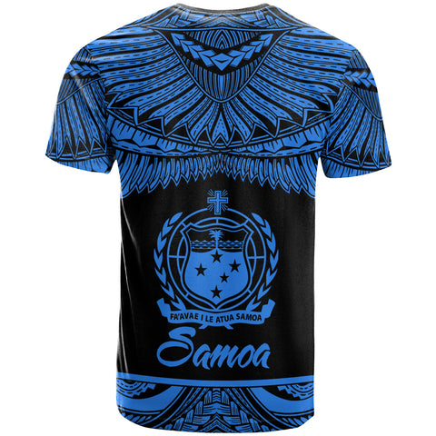 Image of Samoa Polynesian Custom Personalised T-Shirt -Samoa Pride Blue Version - BN12