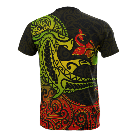 Hawaii T-shirt - Polynesian Hammerhead Shark
