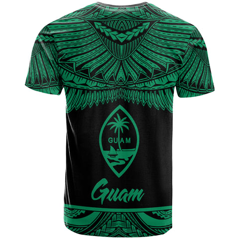 Guam Polynesian Custom Personalised T-Shirt - Guam Pride Green Version - BN12