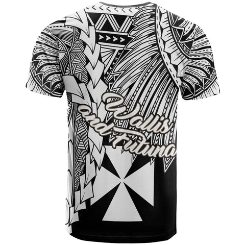 Image of Wallis and Futuna Polynesian Custom Personalised T-Shirt - Tribal Wave Tattoo White - BN12