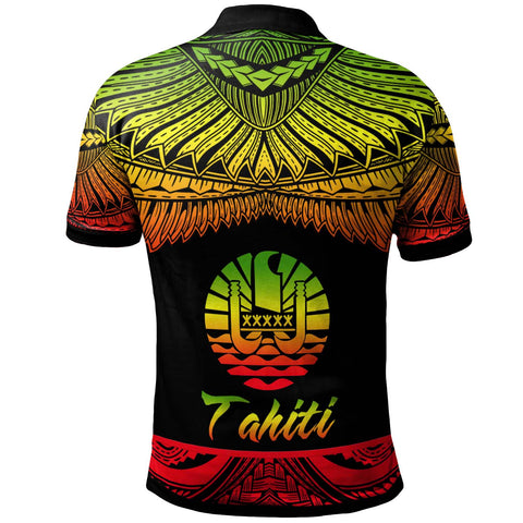 Tahiti Polynesian Custom Personalised Polo Shirt - Poly Tattoo Reggae Version - BN12